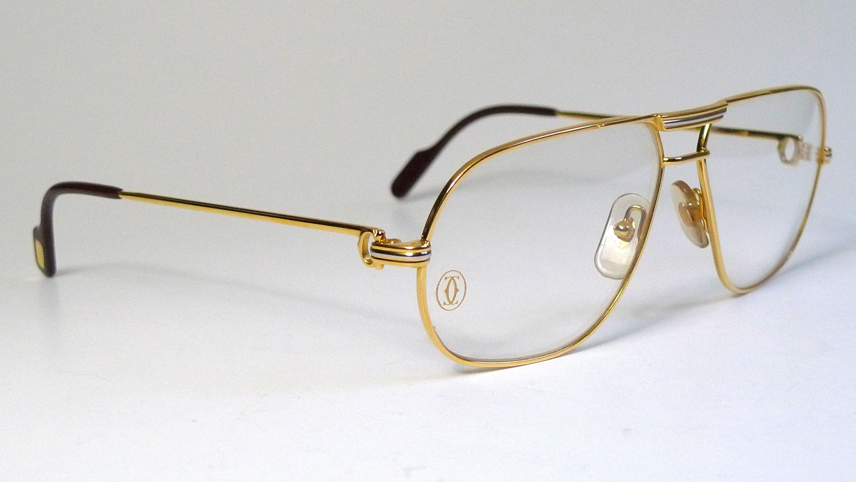Cartier Tank Louis Cartier Vintage For Me Lunettes Okulary Sonnenbrille 眼镜 Sunglasses Frame